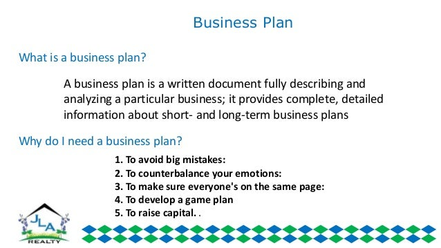 I want a business plan