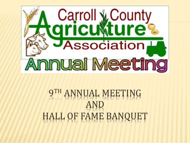 9TH ANNUAL MEETING AND HALL OF FAME BANQUET