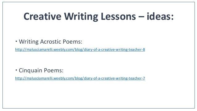 creative writing lesson ideas