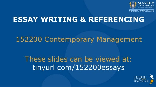 essay writing and referencing for contemporary management  essay writing referencing 152200 contemporary management these slides can be viewed at tinyurl