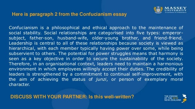 essay writing and referencing for contemporary management  confucianism