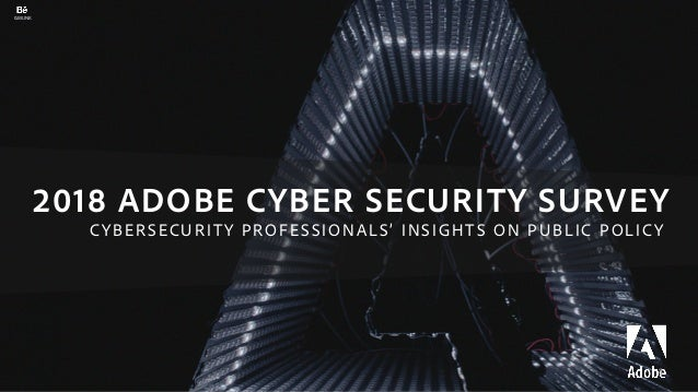 2018 ADOBE CYBER SECURITY SURVEY 1 GMUNK CYBERSECURITY PROFESSIONALS' INSIGHTS ON PUBLIC POLICY