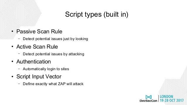 2017 DevSecCon ZAP Scripting Workshop