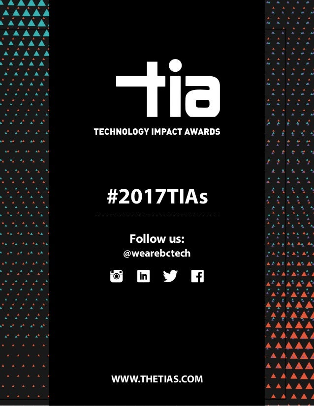 2017 Technology Impact Awards | Program Guide