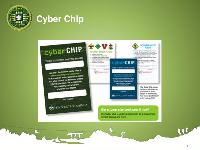 photo about Bsa Cyber Chip Green Card Printable titled 2017 Electronic Know-how Advantage Badge - Boy Scouts of The us
