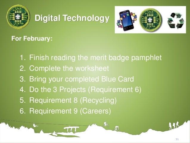 Digital Technology Merit Badge Worksheet 013 - Digital Technology Merit Badge Worksheet