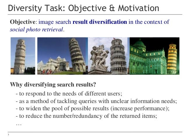 MediaEval 2017 Retrieving Diverse Social Images Task (Overview) Slide 3