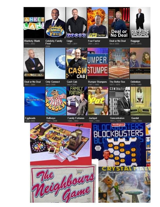 2017 exam topic tv game show display Slide 3