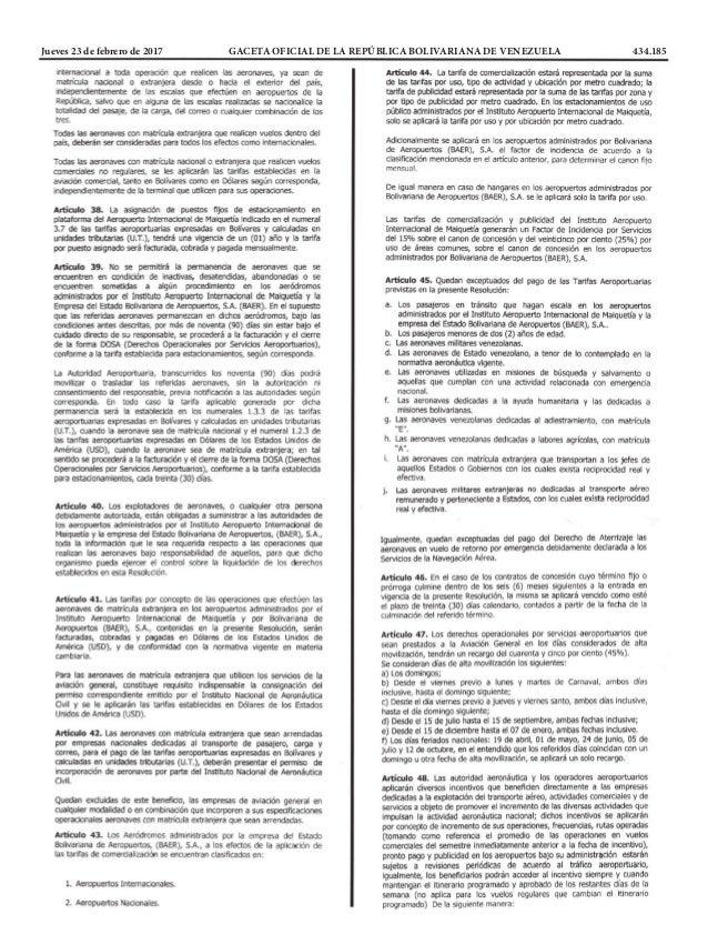 Jueves 23 de febrero de 2017 GACETA OFICIAL DE LA REPÚBLICA BOLIVARIANA DE VENEZUELA 434.185