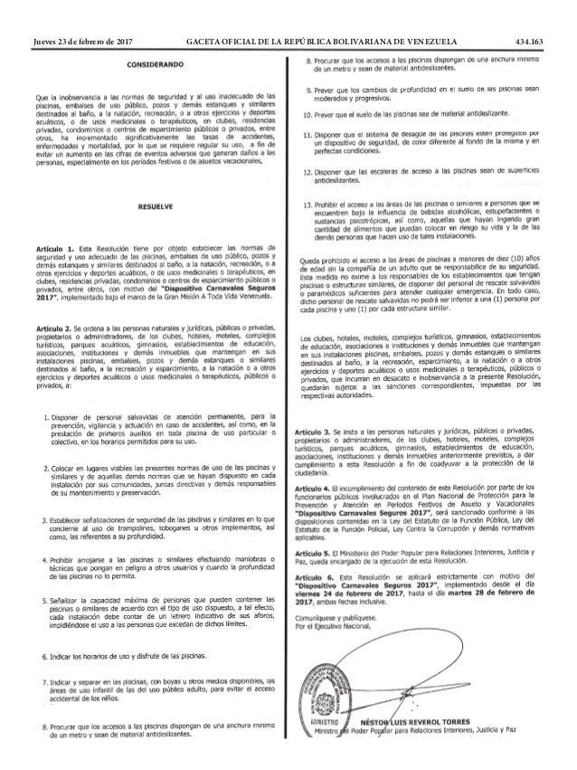 Jueves 23 de febrero de 2017 GACETA OFICIAL DE LA REPÚBLICA BOLIVARIANA DE VENEZUELA 434.163
