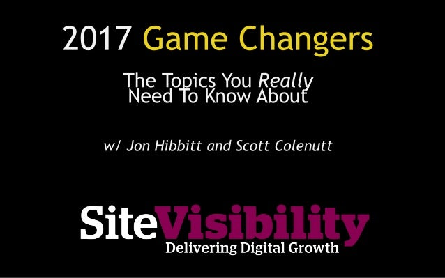1. A recap of major changes in digital in 2016 2. 10 hot topics for 2017 Our contact details are at the end of this video ...