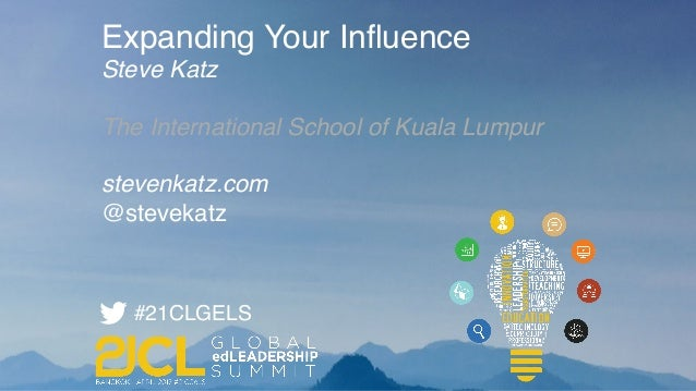Expanding Your Influence Steve Katz The International School of Kuala Lumpur