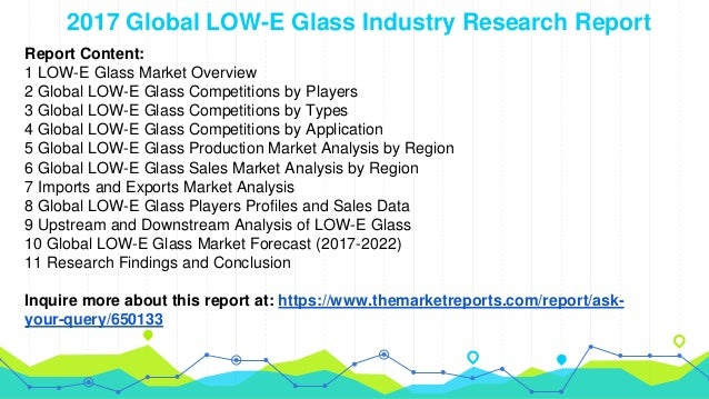 Global LOW-E Glass Industry Report: Sales, Market Share, Forecast by …