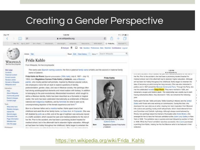 BASIC RULES: NOTABILITY Creating a Gender Perspective https://en.wikipedia.org/wiki/Frida_Kahlo