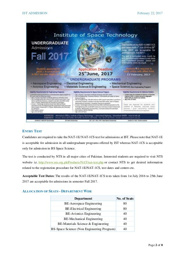 2017 IST Undergraduates Admission Guide for Fall