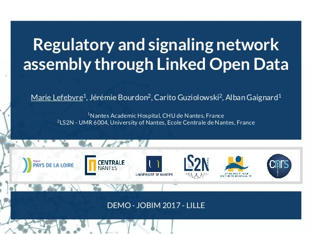 Regulatory and signaling network assembly through Linked Open Data Marie Lefebvre1 , Jérémie Bourdon2 , Carito Guziolowski...
