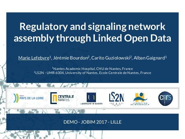 Regulatory and signaling network assembly through Linked Open Data Marie Lefebvre1 , Jérémie Bourdon2 , Carito Guziolowski...