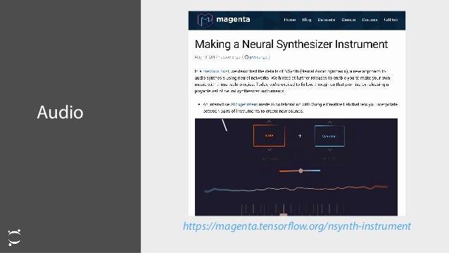 Audio https://magenta.tensorflow.org/nsynth-instrument