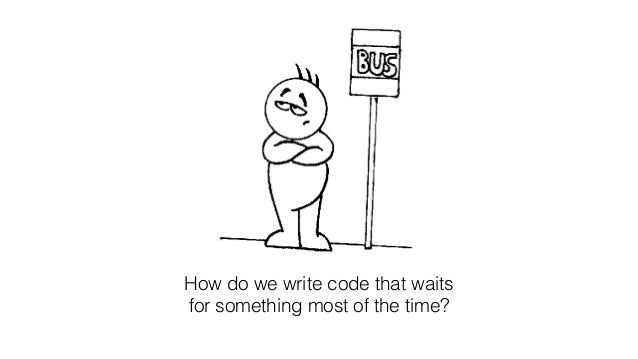 How do we write code that waits for something most of the time?