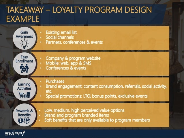 Snipp Webinar With Loyalty360 - The State of Loyalty in 2017 Loyalty Program Examples