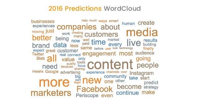 2017 Social Media & Content Marketing Predictions from 70 Marketing Leaders  Slide 3