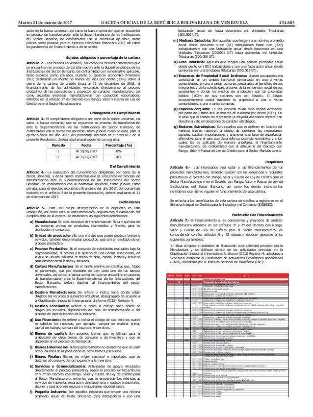 Martes 21 de marzo de 2017 GACETA OFICIAL DE LA REPÚBLICA BOLIVARIANA DE VENEZUELA 434.603 ...