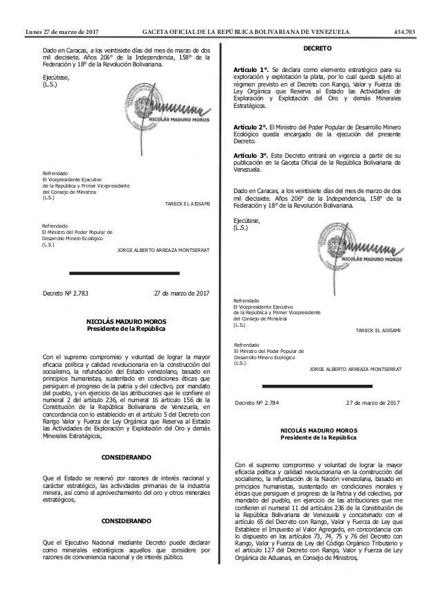   REPÚBLICA BOLIVARIANA DE VENEZUELA DESPACHO DEL PRESIDENTE   ...