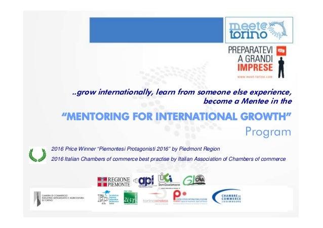 Past Mentors Mentees Profile On Slideshare MeetTorino Grow Internationally