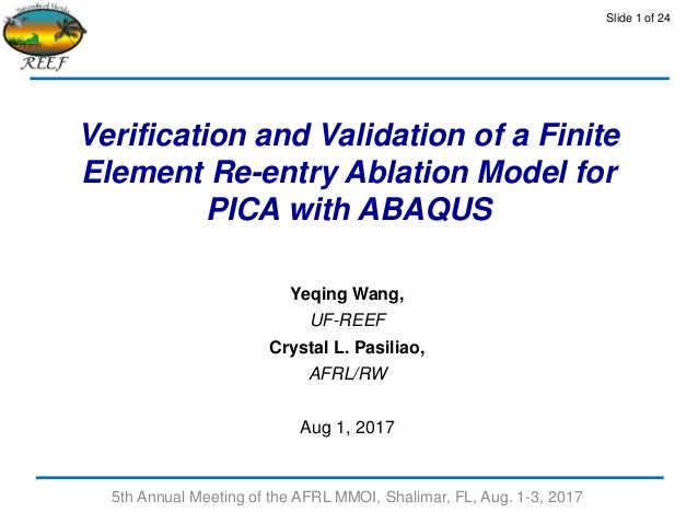 Verification and Validation of a Finite Element Re-entry Ablation Mod…