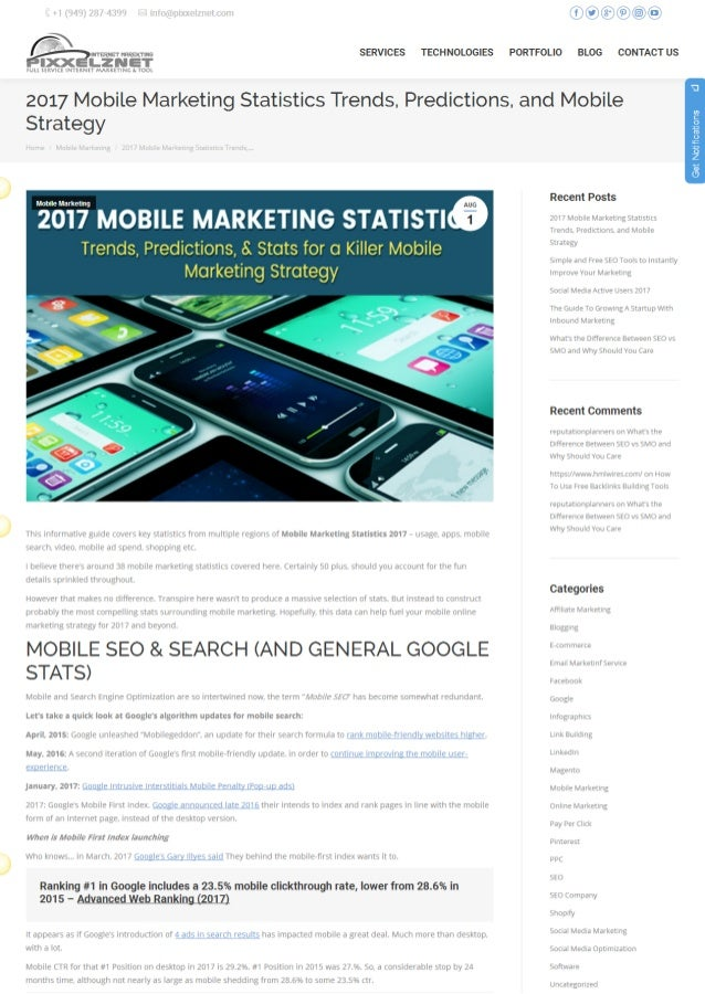 2017 mobile marketing statistics trends - Mobel trends 2017 ...