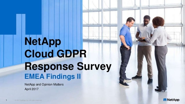 NetApp Cloud GDPR Response Survey EMEA Findings II © 2017 NetApp, Inc. All rights reserved.1 NetApp and Opinion Matters Ap...