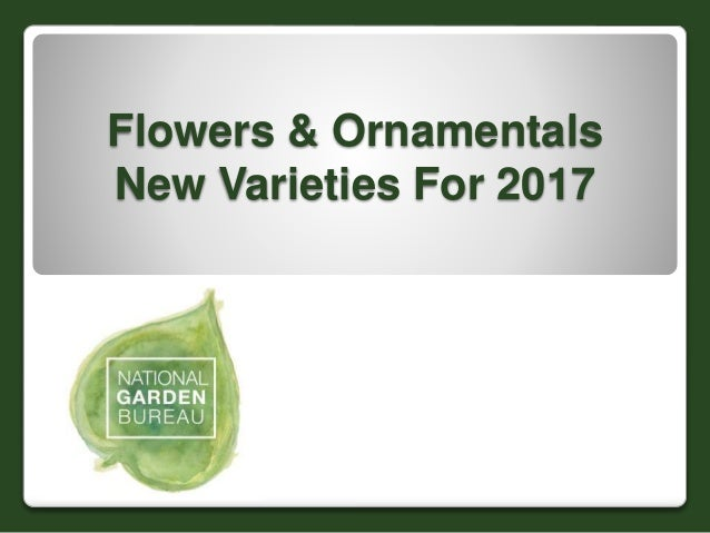Flowers & Ornamentals New Varieties For 2017