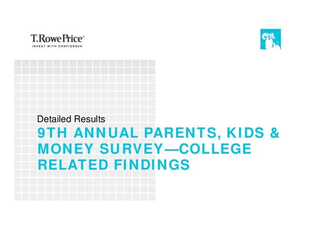 9TH ANNUAL PARENTS, KIDS & MONEY SURVEY—COLLEGE RELATED FINDINGS Detailed Results