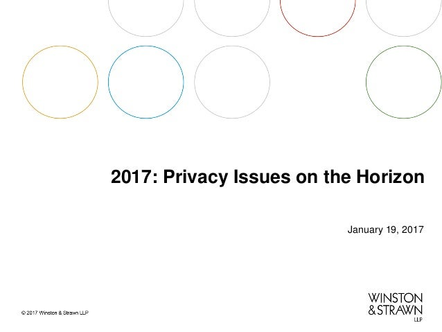 2017: Privacy Issues on the Horizon
