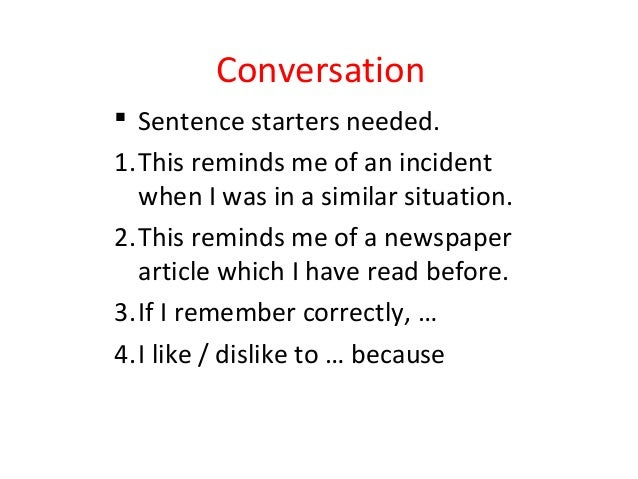sentence starters for newspaper articles