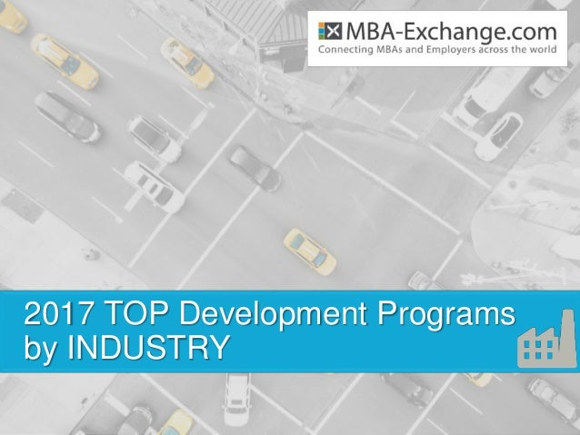 2017 TOP Development Programs by INDUSTRY
