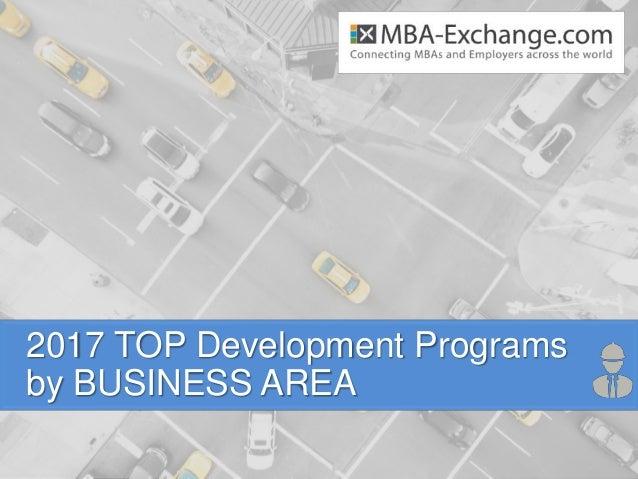 2017 TOP Development Programs by BUSINESS AREA