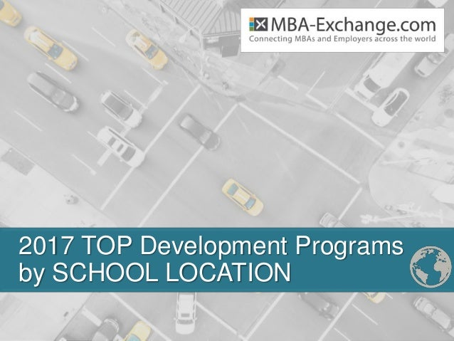 2017 TOP Development Programs by SCHOOL LOCATION