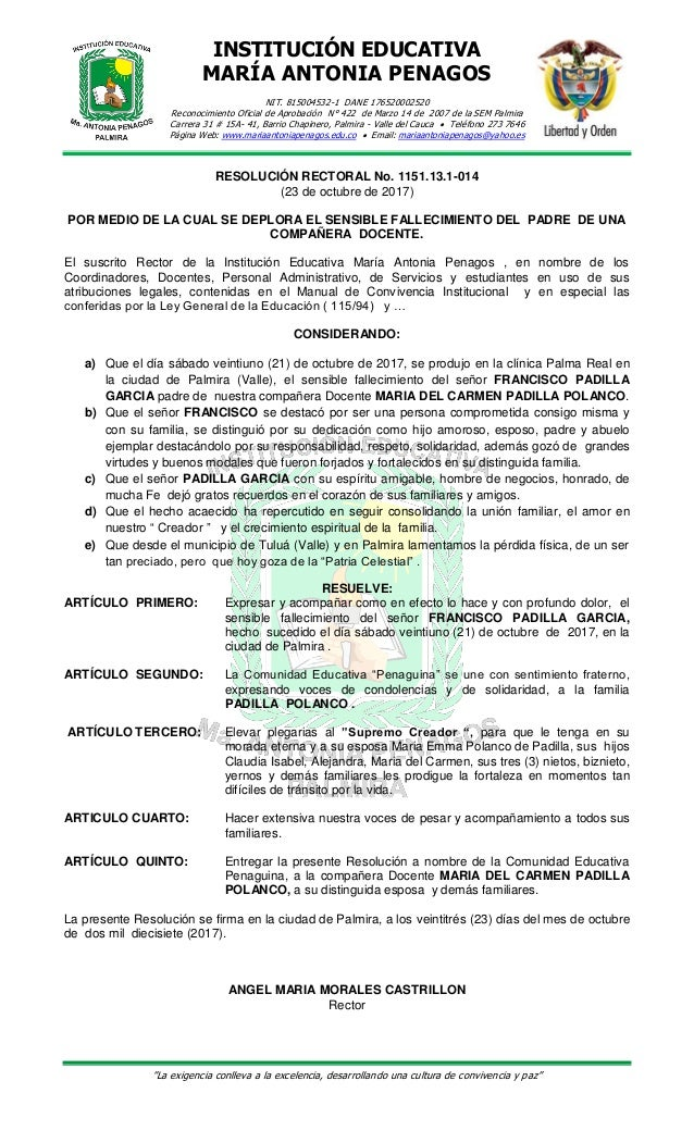 INSTITUCIÓN EDUCATIVA MARÍA ANTONIA PENAGOS NIT. 815004532-1 DANE 176520002520 Reconocimiento Oficial de Aprobación N° 422...