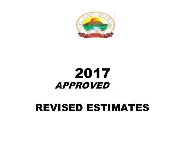 2017 APPROVED ` REVISED ESTIMATES
