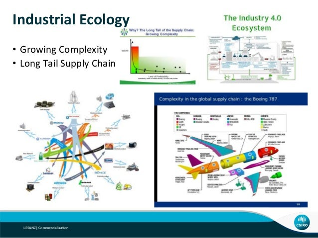 Industrial Ecology • Growing Complexity • Long Tail Supply Chain LESANZ  Commercialization