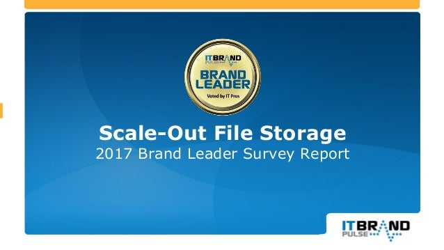 Scale-Out File Storage 2017 Brand Leader Survey Report