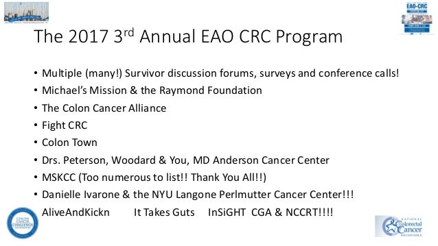 Third Annual Early Age Onset Colorectal Cancer Symposium Finding Th