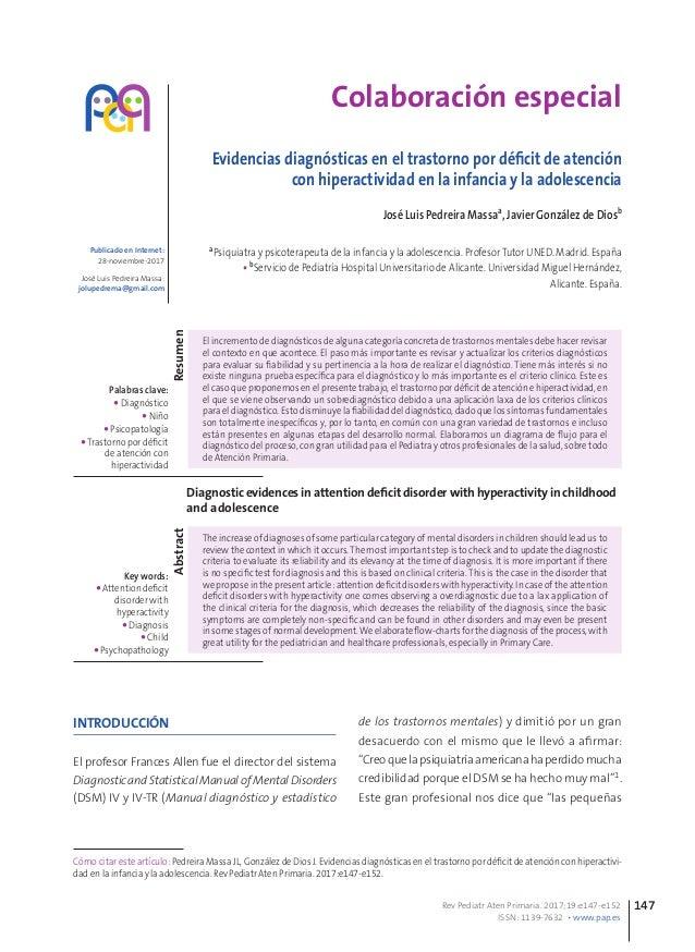 Colaboración especial Evidencias diagnósticas en el trastorno por déficit de atención con hiperactividad en la infancia y ...