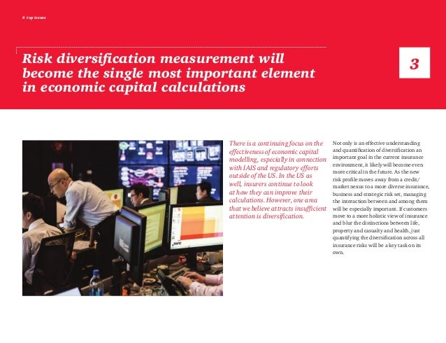 6 top issues Risk diversification measurement will become the single most important element in economic capital calculatio...