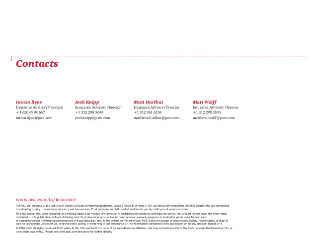 www.pwc.com/us/insurance At PwC, our purpose is to build trust in society and solve important problems. We're a network of...