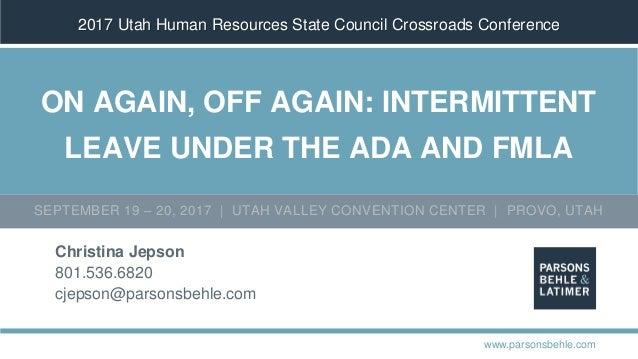 ADA and FMLA: Managing Intermittent Leave