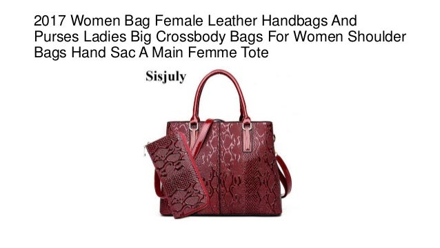97a22446d9 2017 Women Bag Female Leather Handbags And Purses Ladies Big Crossbody Bags  For Women Shoulder Bags ...