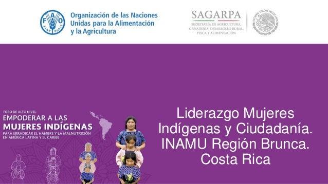 Liderazgo Mujeres Indígenas y Ciudadanía. INAMU Región Brunca. Costa Rica