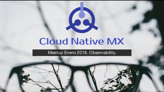 Meetup Enero 2018. Observability.